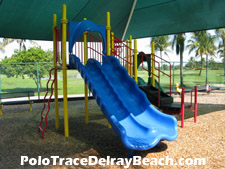 Behind the pool is this small playground which overlooks the Polo Trace golf course.